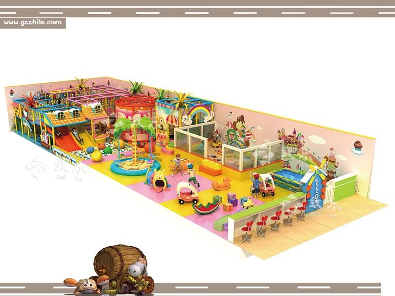 缤纷淘气堡是以色彩为主题,让色彩点亮孩子们的世界