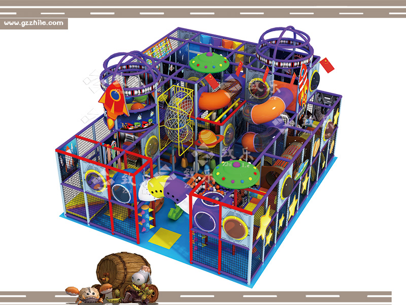 太空科技主题儿童乐园淘气堡效果图