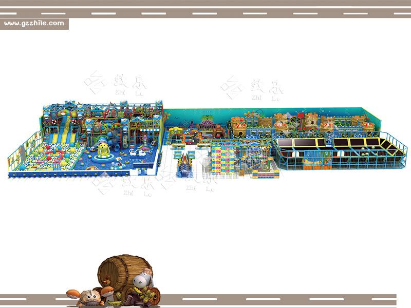 淘气堡乐园设计图,海洋主题儿童游乐园