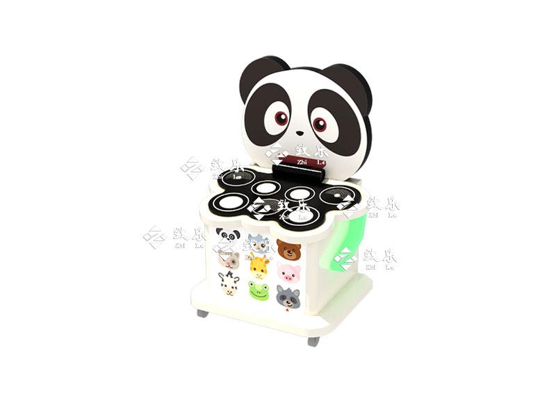 儿童游乐设备新产品-熊猫爵士鼓