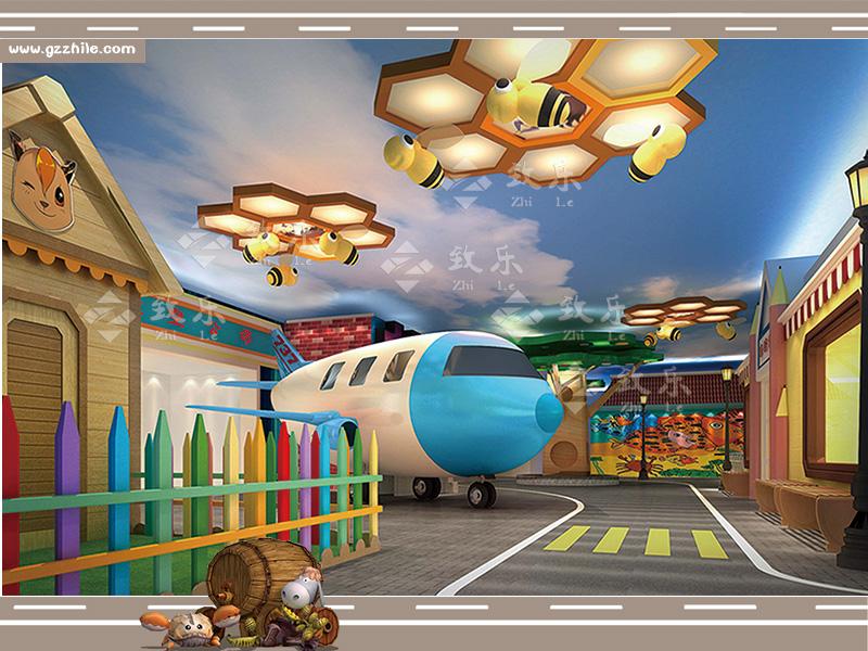 儿童乐园衍生设备航空公司设施