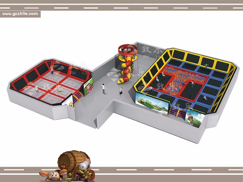 广州致乐厂家最新推出的大型蹦床乐园,与我们常见的儿童蹦床不同,它结合前沿的虚拟互动科技,营造似真似幻的缤纷游乐空间。