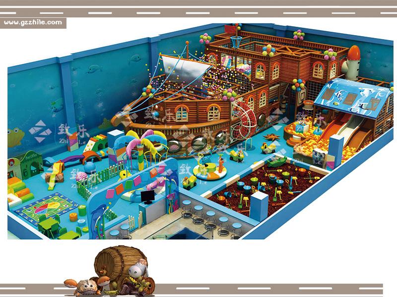 海洋主题儿童乐园淘气堡让孩子们对海洋充满想象,培养兴趣。