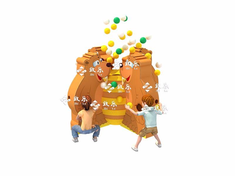 儿童乐园淘气堡游乐设备产品-熊与蜂蜜是广州致乐最新研发设计的电动新产品。