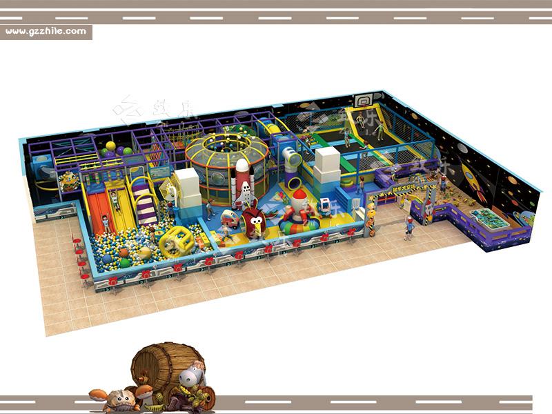 中型太空淘气堡综合乐园
